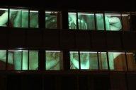 "htwfoto.jpg - ""Handy4 Who"" Video Projection "" Sehen und Gesehen Werden "" - Media Art Lab Berlin/<br />Medienwerkstatt Berlin and HTW - University of Applied Sciences Berlin 2013 foto : Medienwerkstatt Berlin<br />"