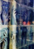 "formblau2.jpg - ""Hands"" 42 x C - Print - Transparencies  21 x 29 cm,   ""Formation Blau"" -  TSP Druckhaus Potsdamerstr. Berlin 2001  Foto : Barbara Wolters  copyright"