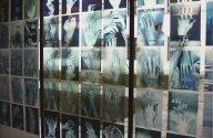 "globefus1.jpg - ""Handy""  50  transparent C - Prints  29 x 21 cm, ""Global Fusion"" -  Palais Porcia, Bundeskanzleramt, Vienna 2002                            Foto : Barbara Wolters - copyright"