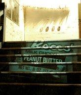 """retour2.jpg - """"Retour - Detour"""" Installation with Claudia Maria Luenig Stairway Public Office, Melbourne 1999  Foto : Claudia Maria Luenig"""
